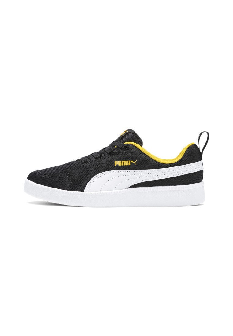 Puma - COURTFLEX - Sneakers basse - black-white-yellow