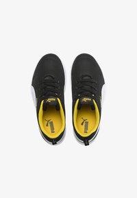 Puma - COURTFLEX - Sneakers basse - black-white-yellow - 1
