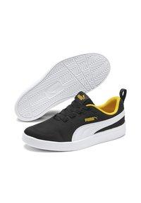Puma - COURTFLEX - Sneakers basse - black-white-yellow - 3