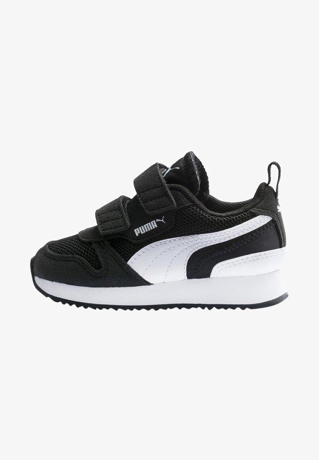 Lær-at-gå-sko - black-white