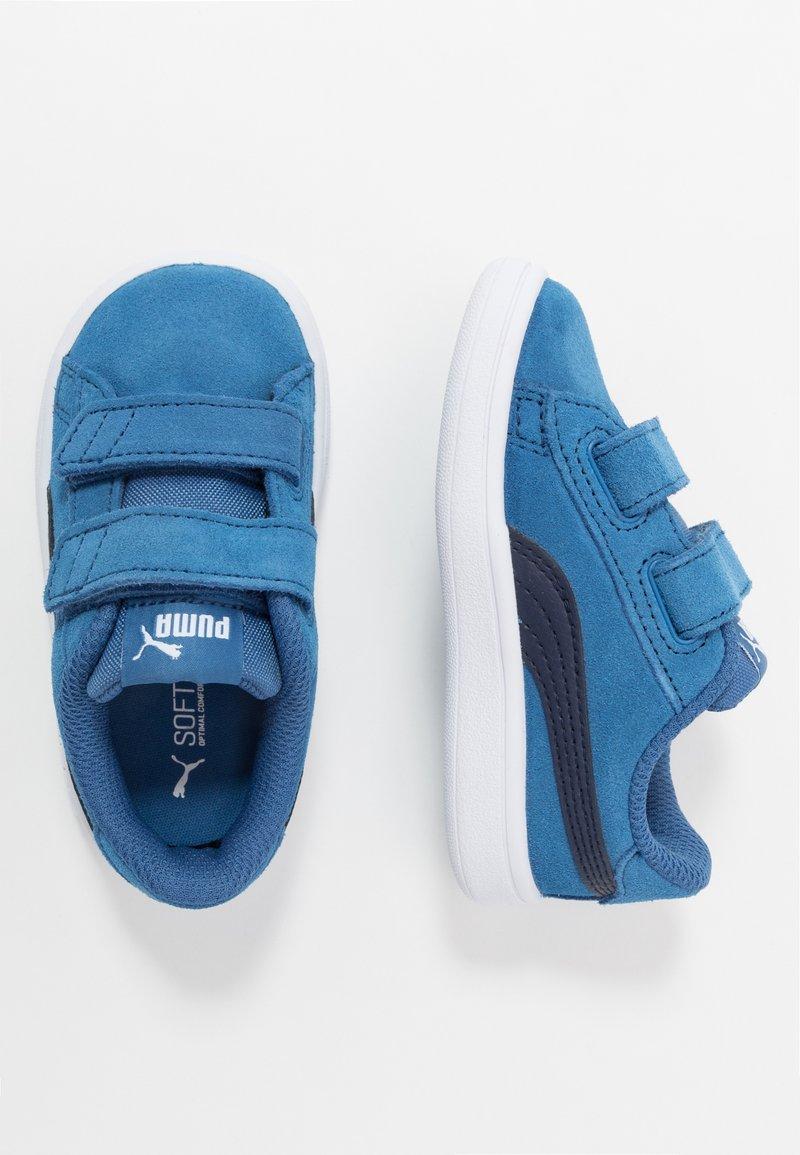 Puma - SMASH - Baskets basses - bright cobalt/peacoat/white