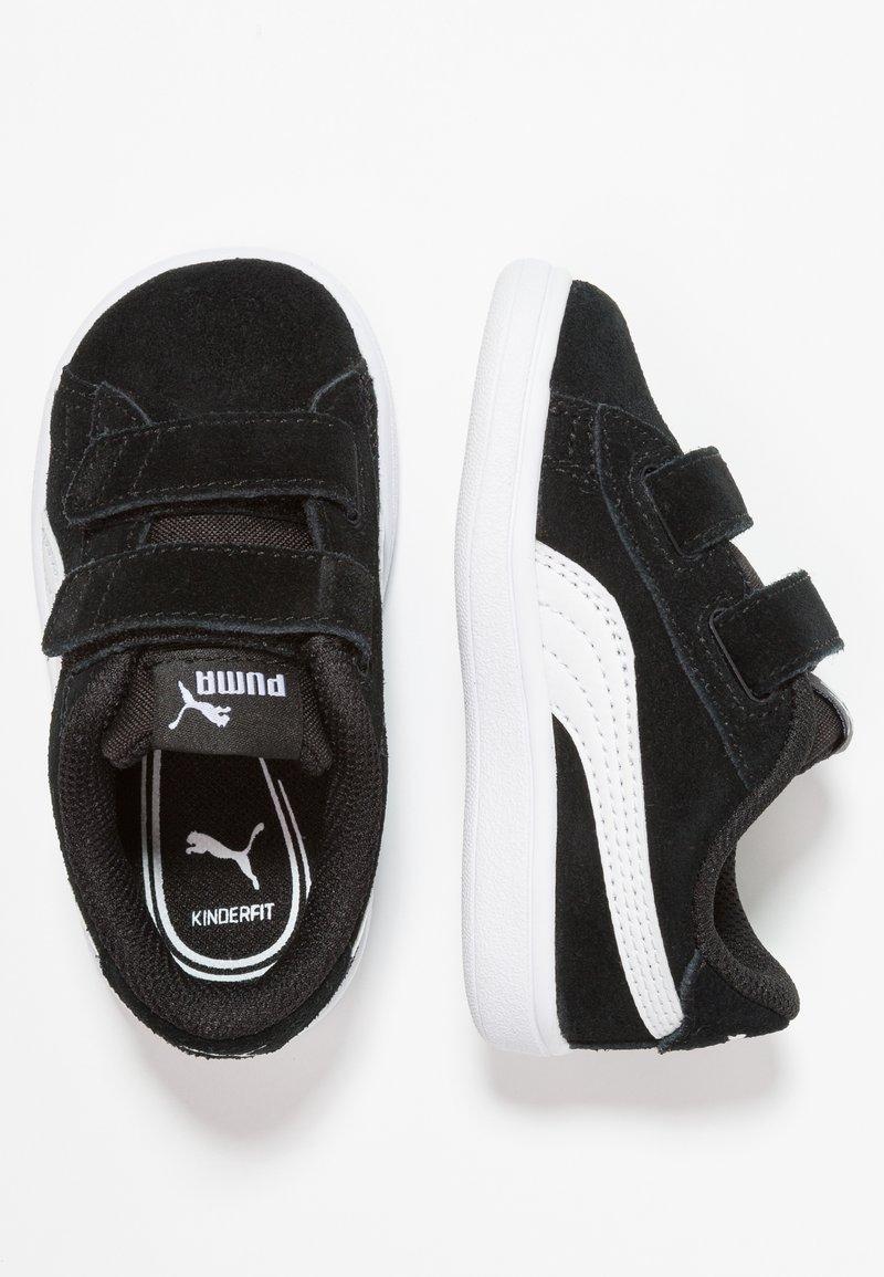 Puma - SMASH - Baskets basses - black/white