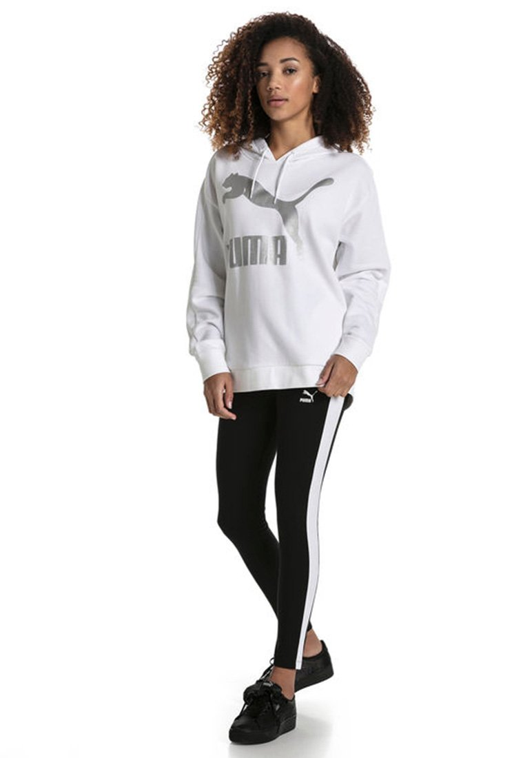 Puma - CLASSICS LOGO T7 LEGGING - Leggings - Trousers - cotton black