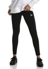 Puma - CLASSICS LOGO T7 LEGGING - Leggings - Trousers - cotton black - 1