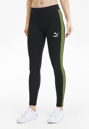 CLASSICS LOGO T7 LEGGING - Leggings - Trousers - black-sunny lime