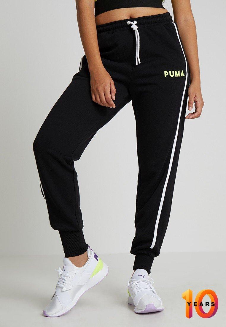 Puma - CHASE BAGGY SWEATPANTS - Pantaloni sportivi - black