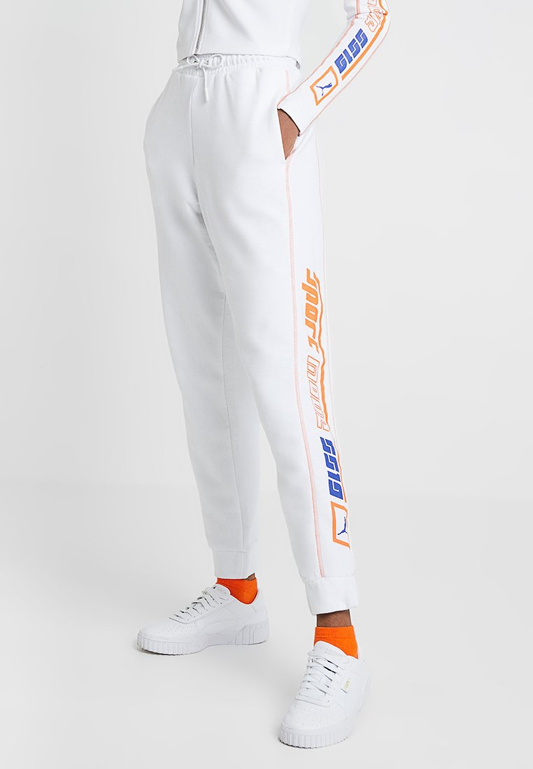 Puma - PANTS - Tracksuit bottoms - white