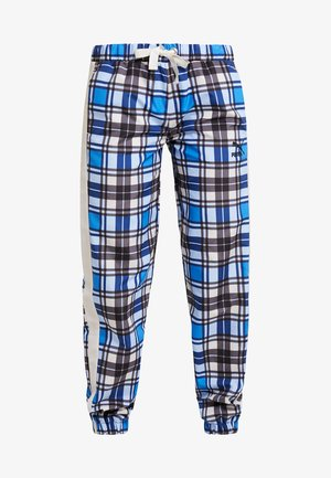 CHECK WIDE LEG PANTS - Pantaloni - strong blue