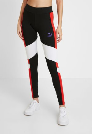 Leggings - Trousers -  black/white/red/purple