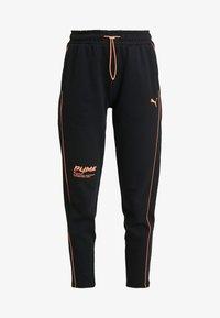 Puma - EVIDE PANTS - Joggebukse - black/orange - 3