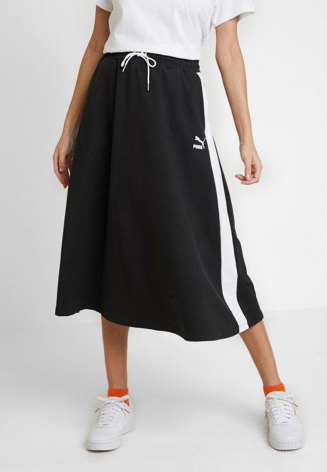 CLASSICS SKIRT - Spódnica trapezowa - black