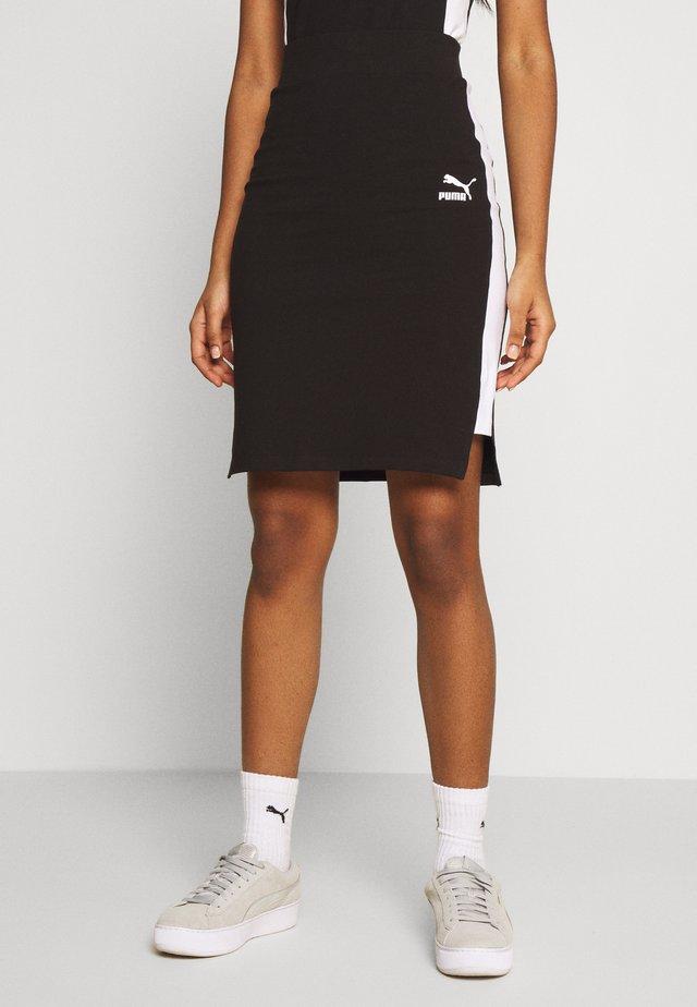 CLASSICS TIGHT SKIRT - Mini skirt - black