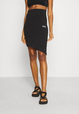MIDI ASSYMETRIC SKIRT - Pencil skirt - black