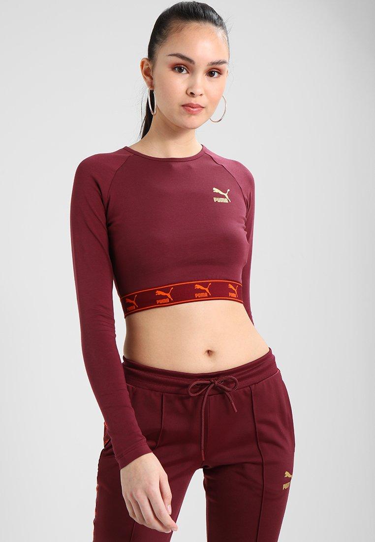 Puma - CROPPED  - Camiseta de manga larga - burgundy