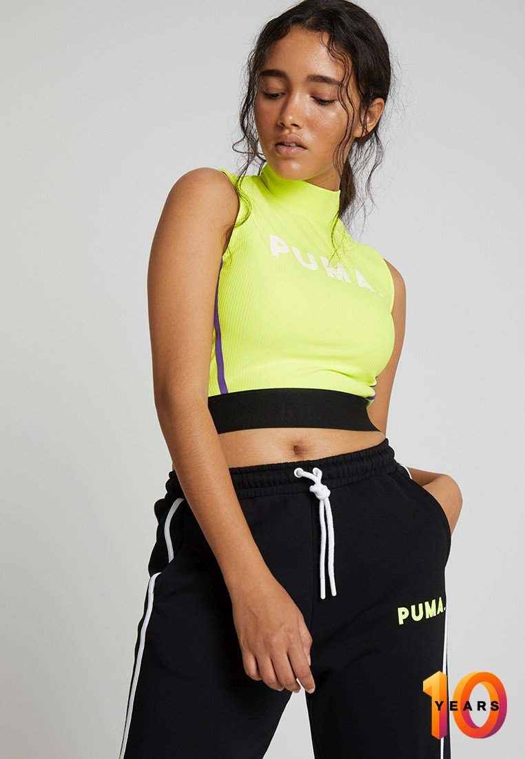 Puma - CHASE CROP - Top - fizzy yellow