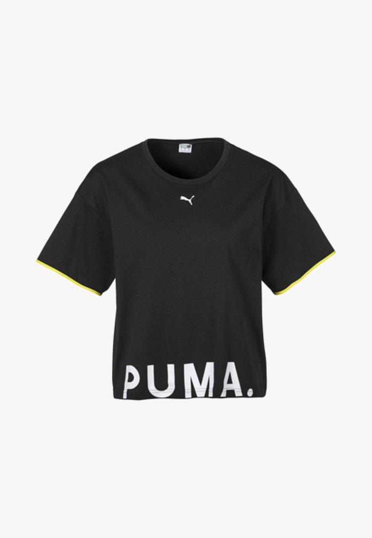 Puma - CHASE TEE - T-shirt imprimé - black