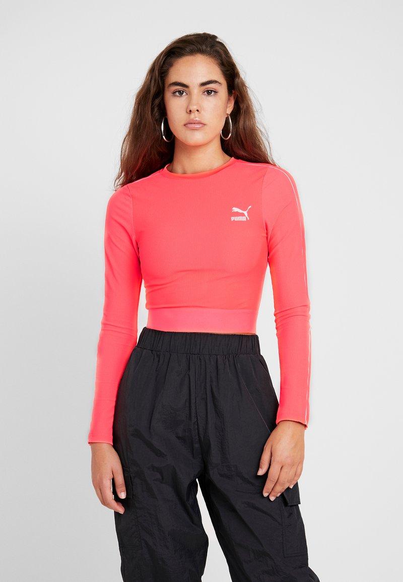 Puma - CLASSICS - Long sleeved top - pink alert