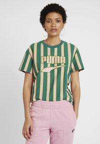 Puma - DOWNTOWN STRIPE TEE - Print T-shirt - teal green - 2