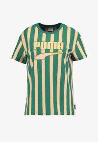 Puma - DOWNTOWN STRIPE TEE - Print T-shirt - teal green - 3