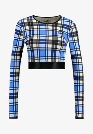 CROPPED CHECK TEE - Longsleeve - strong blue