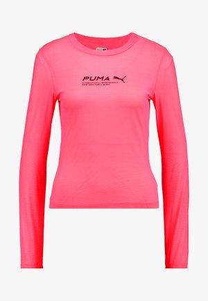 EVIDE LONGSLEEVE - Bluzka z długim rękawem - ignite pink