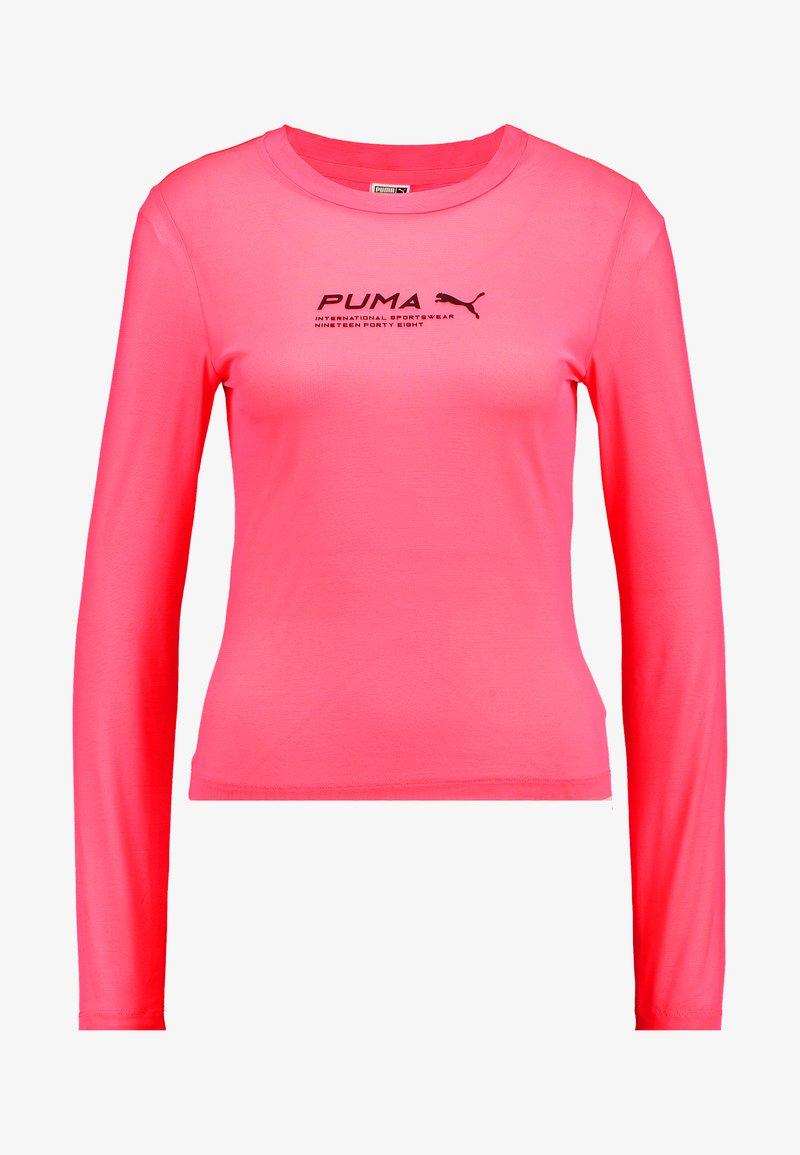 Puma EVIDE LONGSLEEVE - Topper langermet - ignite pink