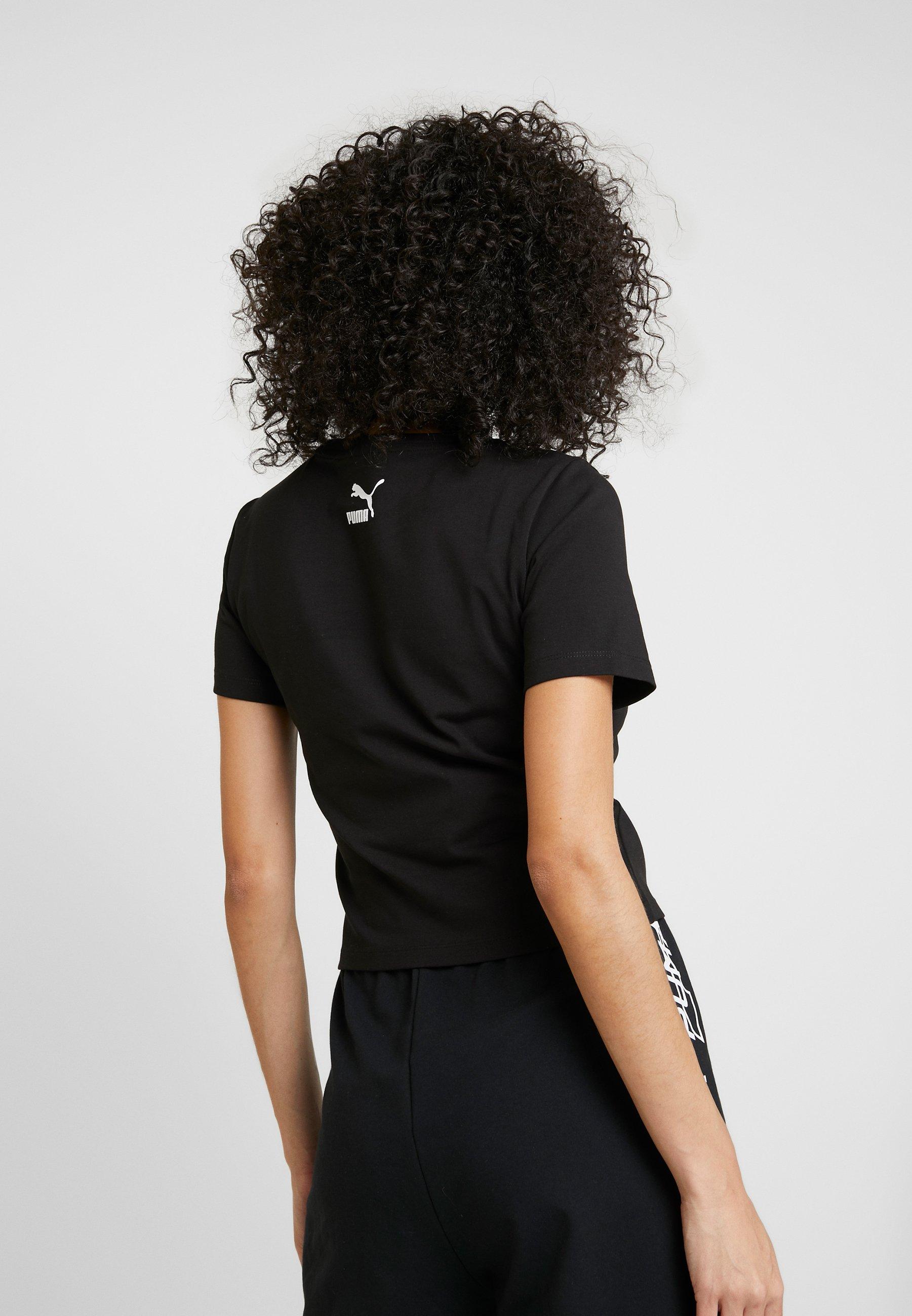 Puma GRAPHIC CROP - T-shirts med print - black