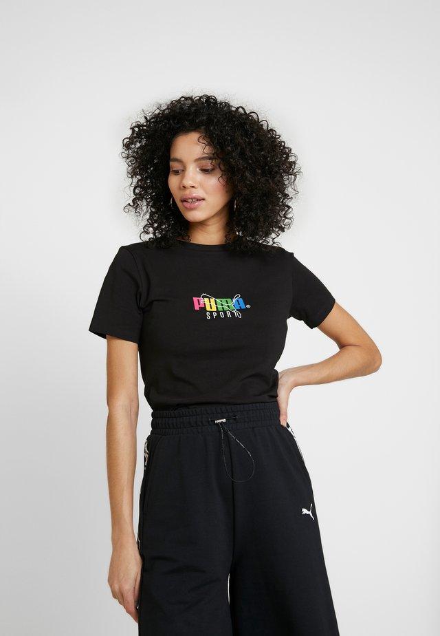 GRAPHIC CROP - T-shirt imprimé - black