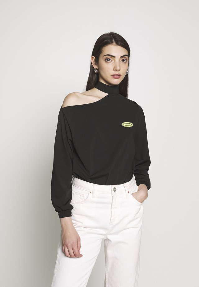 AOP BODY - Maglietta a manica lunga - black
