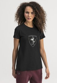 Puma - T-shirt imprimé -  black - 0