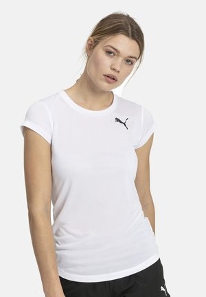 PUMA ACTIVE WOMEN'S TEE FEMALE - Print T-shirt - white