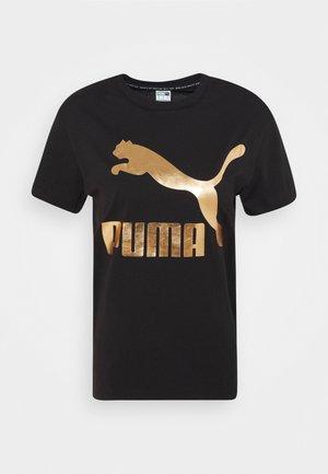 CLASSICS LOGO TEE - T-shirt print - black/gold