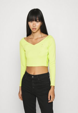 CLASSICS LONGSLEEVE CROPPED - Long sleeved top - green