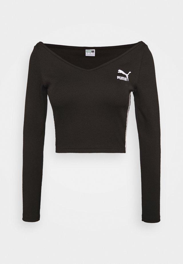 CLASSICS LONGSLEEVE CROPPED - T-shirt à manches longues - black