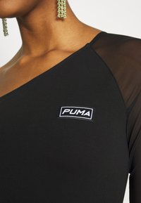 Puma - ASSYMETRIC CROPPED TEE - Long sleeved top - black - 4