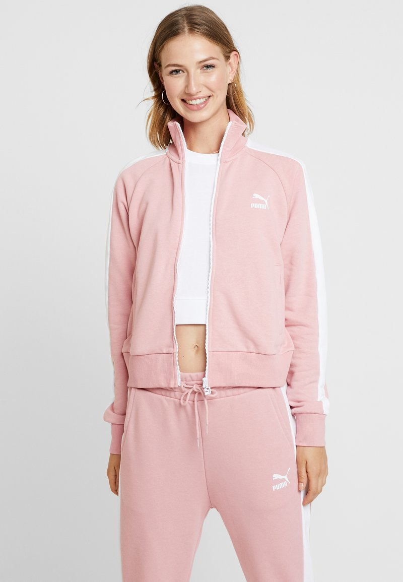 Puma - CLASSICS TRACK - Zip-up hoodie - bridal rose