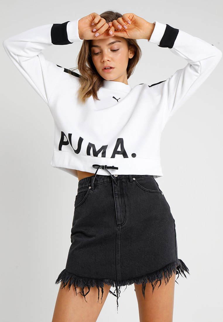 Puma - CHASE CREW - Long sleeved top - white