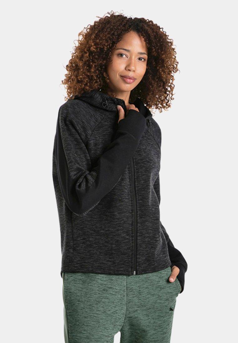 Puma - Zip-up hoodie - black