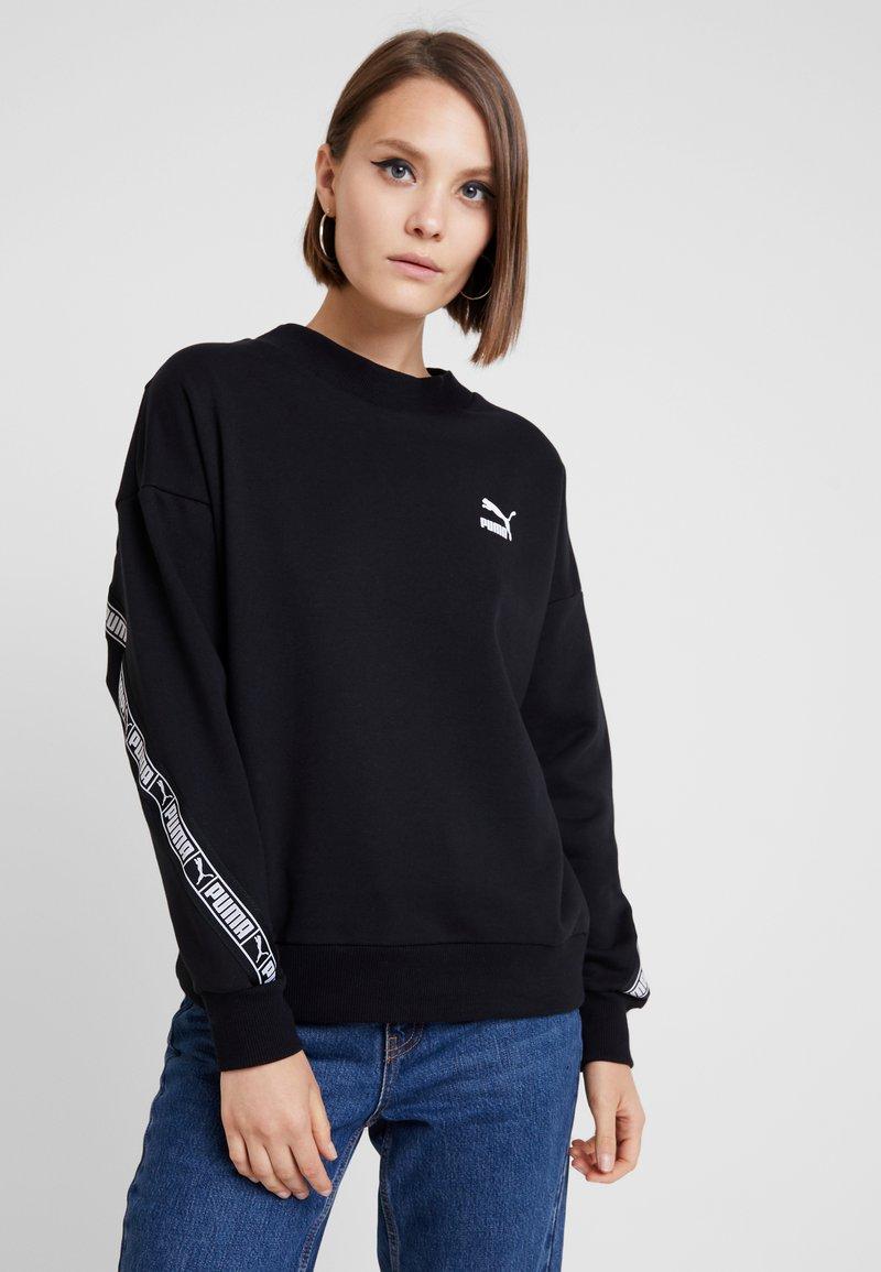 Puma - CLASSICS TAPE CREW - Sweatshirt - puma black