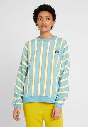 DOWNTOWN STRIPE CREW - Sweatshirt - milky blue