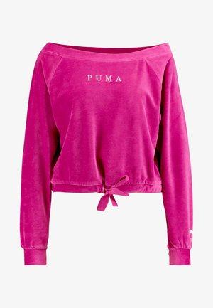 OFF SHOULDER - Sweatshirt - fuchsia purple