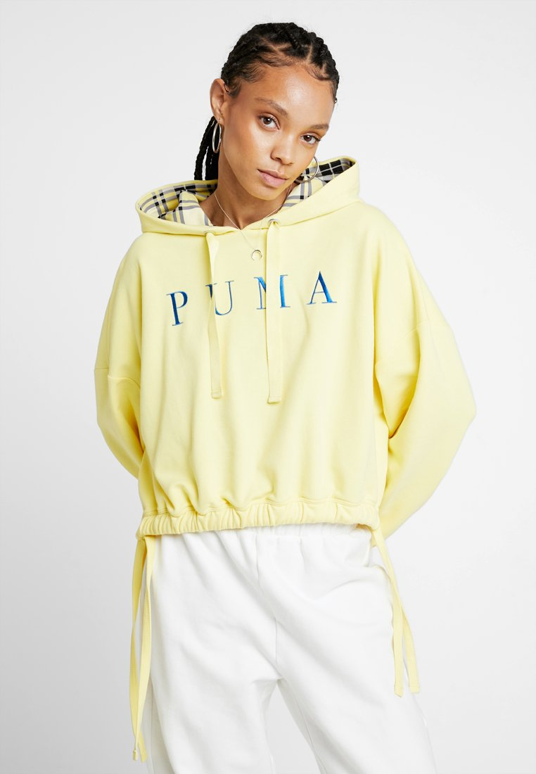 Puma - HOODIE - Kapuzenpullover - yellow cream