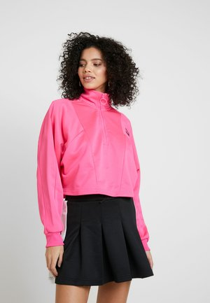 CROPPED HALF ZIP - Sweater - fluo pink