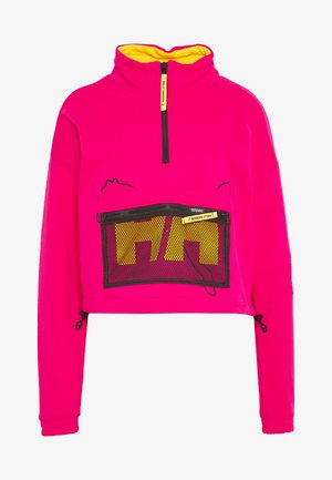 X HELLY HANSEN HALF ZIP SWEATER - Sweatshirt - bright rose
