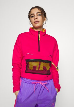 X HELLY HANSEN HALF ZIP SWEATER - Sweatshirt - bright rose