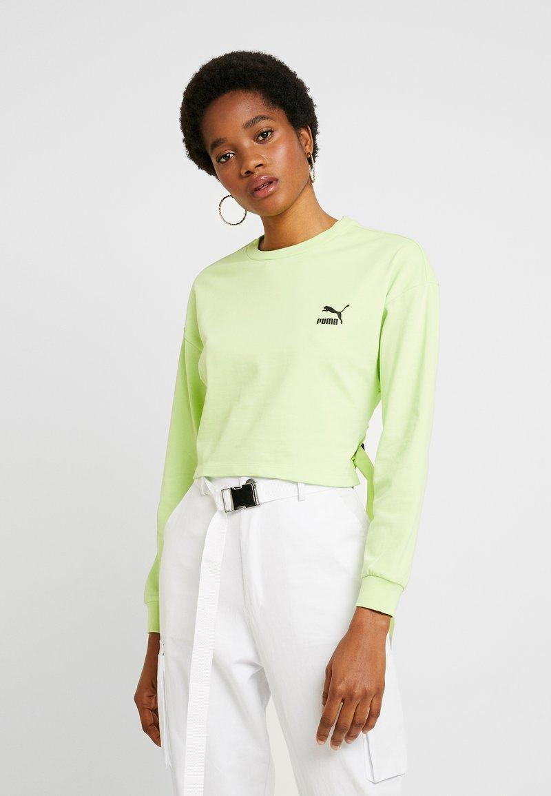 Puma - CREW - Maglietta a manica lunga - sharp green