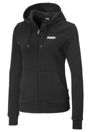 Zip-up hoodie - cotton black