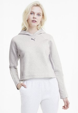 EVOSTRIPE - Sweat à capuche - white heather