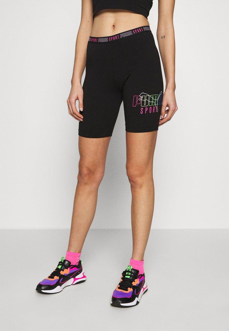Puma - TIGHT SHORTS - Shorts - black