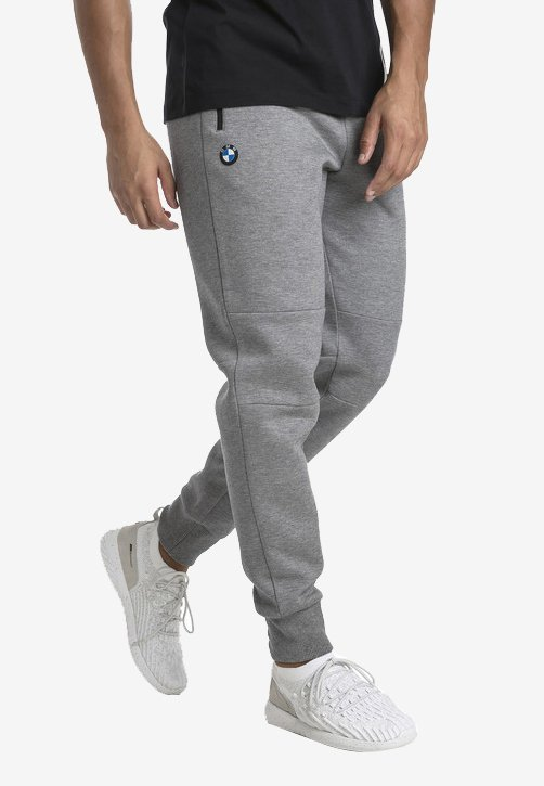 Puma - MOTOR - Tracksuit bottoms - medium gray heather